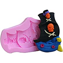 BEAUTY'S CASTLE Beauty 's Castle DIY 3D Piratenschiff Kuchen Silikon Form, handgefertigte Seife Form, Kuchen, Form Dekorieren, Fondant Backen Werkzeug