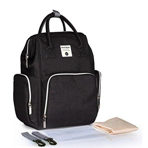 ZPFME Baby Wickeltasche Reise Rucksack Isolierte Tasche Wasserdicht Stoffe Passform für Kinderwage,Große Kapazität Multifunktional Tragbar Handtasche Organizer
