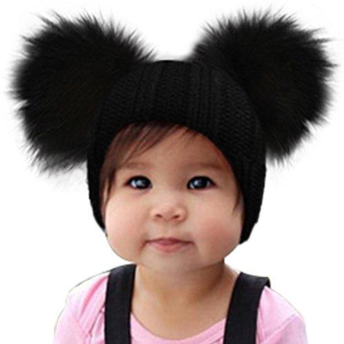 nroyal Wolle Winter Wollmischung Barette Fox Hüte Jacken-Schale von Herbst und Winter Hut Baby Knit Schal mit einem Hut (grau) (Die Unglaublichen Kostüm Für Baby)