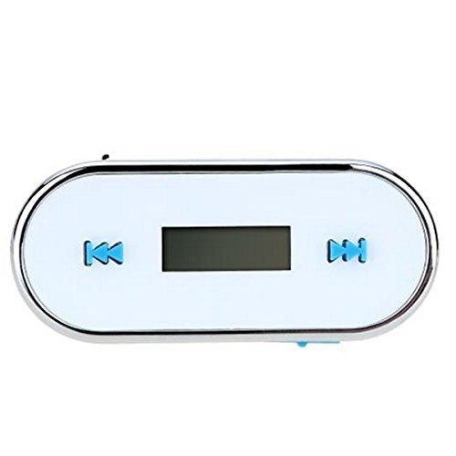 MagiDeal Wireless 3,5 mm FM Transmitter Modulator Auto LCD FM für Iphone 6s 6 Plus Weiß
