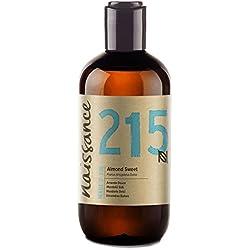 Naissance reines Mandelöl süß (Nr. 215) 250ml - Vegan, gentechnikfrei - Ideal zur Haar- und Körperpflege, für Aromatherapie und als Basisöl für Massageöle