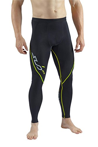 Sub Sports Mens Graduated Compression Leggings Running Tights Base Layer Promotes Endurance and Muscle Recovery, Moisture Wicking Base Layer - Black Stealth - XL
