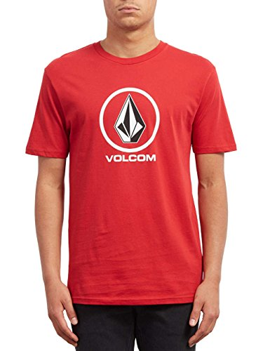 Volcom Crisp Stone BSC SS Camiseta, Hombre, Rojo (Engine Red), L