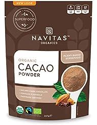Navitas Organics Cacao Powder, 227 g Bag, Organic, Fair Trade, Gluten-Free