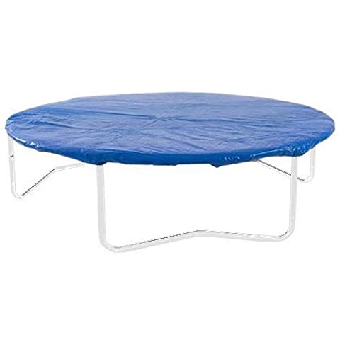 Heavy Duty Outdoor Trampoline Weather Protection Cover for Circular Trampoline Cover (Blue, 14 ft)