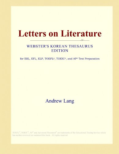 Letters on Literature (Webster's Korean Thesaurus Edition)