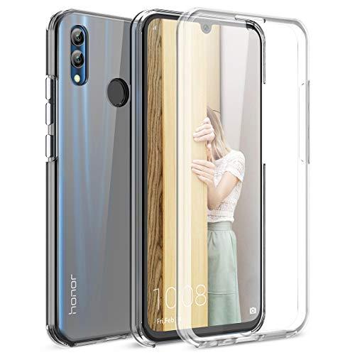 Winhoo Kompatibel mit Huawei Honor 10 Lite Hülle 360 Grad Crystal Clear Transparent Hüllen mit Integriertem Bildschirmschutz Silikon & PC Handyhülle Schutzhülle für Huawei Honor 10 Lite Durchsichtige