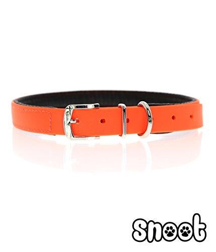 snoot-hundehalsband-mit-polsterung-neon-orange-robust-schmutz-und-wasserabweisend-grosse-s