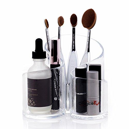 Acrílico titular de cepillo 3 conectados multifuncional de la racionalización y maquillaje recipiente Choice fun