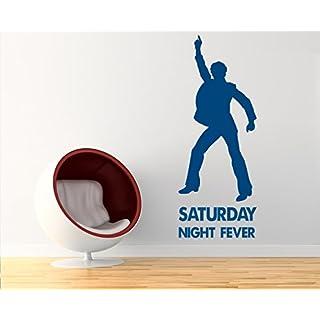 arslinea Wandtattoo - Saturday night fever Disco Club, 75x30 cm, orange