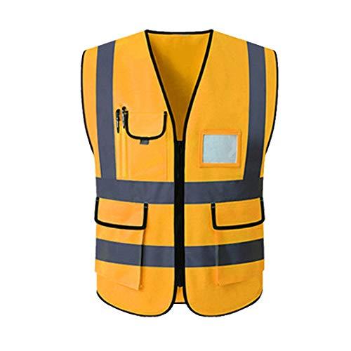 HAIT Reflektierende Weste Sicherheitsweste Verkehrsstörung Nachts Reisen Fluoreszierende Kleiderjacke,L