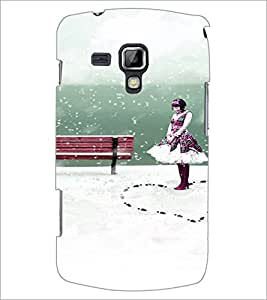 PrintDhaba Cute Girl D-4435 Back Case Cover for SAMSUNG GALAXY S DUOS 2 S7582 (Multi-Coloured)