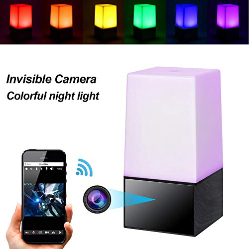 C-Xka Cámara espía Mini cámara Oculta Luz Nocturna 1080 P Grabador de Video Color de Escritorio Lámpara LED Nocturna Transmisión en Vivo a través de Android, iPhone App (Tamaño : 32G Memory Card)