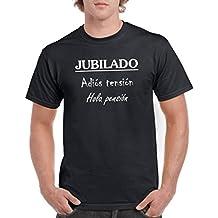 Parent: Camisetas divertidas jubilado adios tensión hola pensión - para hombre camiseta