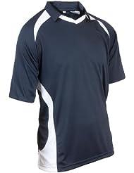 Kookaburra React - Camiseta de hockey para hombre, tamaño XL (42 / 44) Inch Inch, color azul marino / blanco