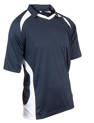 Kookaburra Men's React Shirt - Navy/White, Large