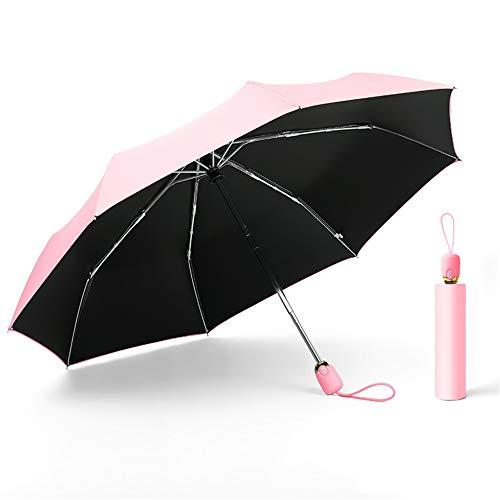 LYJZH Parapluie de Voyage - Parapluie Pliant Resistant au Vent - Format Poche Ultra Compact Parasol de Protection Solaire entièrement Automatique Protection UV couleur6 97cm