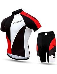 dushow Verano Hombre Camisetas de manga corta de ciclismo para pantalones traje, hombre, color  - Jersey+Pants, tamaño XL=UK(L)