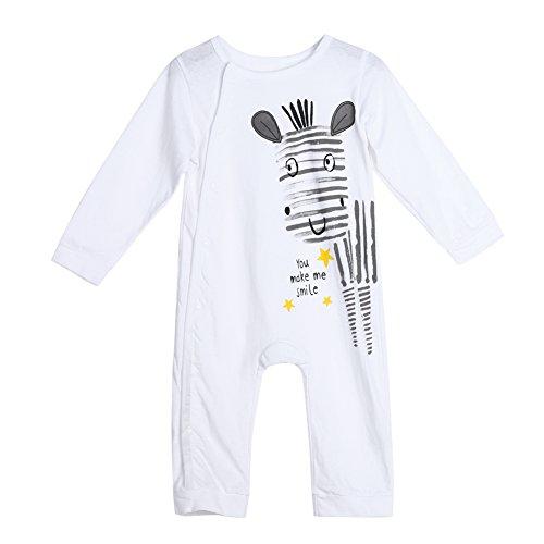Baby Infant Toddlers Cartoon Print Long Sleeve Rompers Jumpsuit Bodysuit(73
