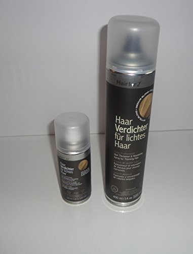 Mini & Jumbo - 1x 400ml + 1x 100ml Hairfor2 (Dunkelbraun)
