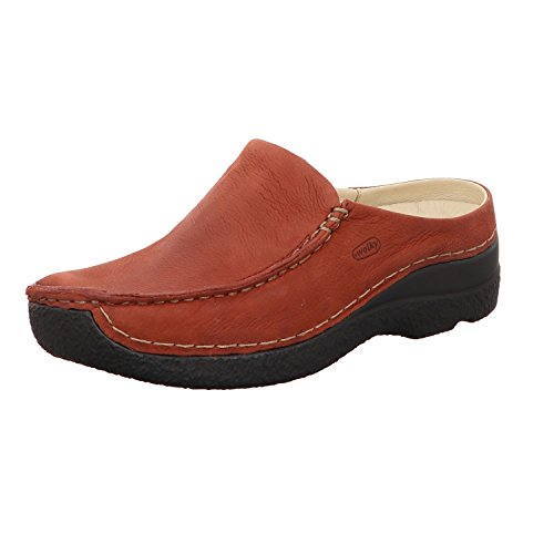 Wolky Comfort Clogs Seamy Slide - 11542 winter rot Nubuk - 41 (Comfort-clogs Nubuk)