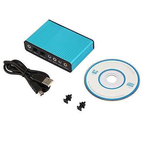 VCB USB 6-Kanal-5.1-Audio-Adapter für Externe optische Soundkarten für PC-Laptop Skype