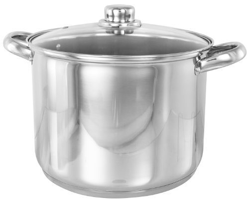 Picture of Buckingham Deep Induction Stock Pot with Glass Lid 26 cm, 11 L