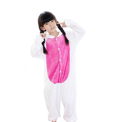 Mädchen Kostüm Geek (Kreative 3D Einhorn Pyjama Nachtwäsche Cosplay Kostüm Unicorn Schlafanzüge Für Jungen Mädchen (116-125cm,)