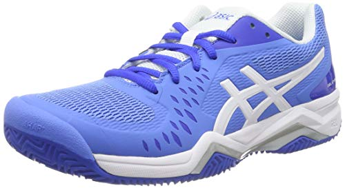 ASICS Damen Gel-Challenger 12 Clay Tennisschuhe, Blau (Blue Coast/White 404), 40 2/3 EU