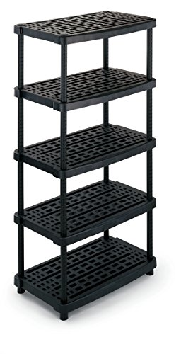 Terry - Extrahohes Kunststoff-Regal mit 5 belüfteten Stufen, TS1000518 - Keller-storage-shelf