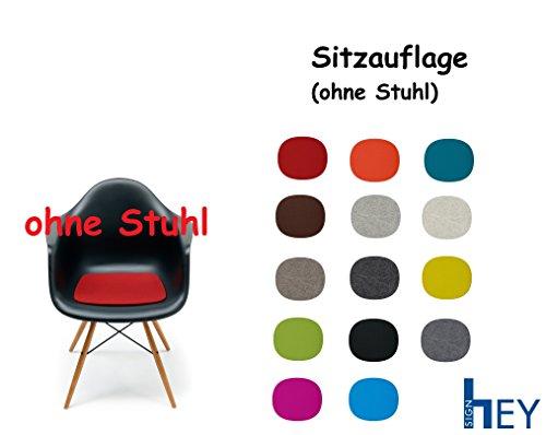 HEY SIGN Sitzauflage Sitzkissen Filz für Vitra Stuhl Eames Plastic Armchair, Antirutsch, 5 mm + Dress Schmuck Organizer (Mango)
