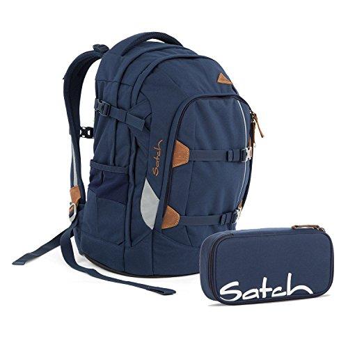 Satch Pack True Blue 2.0 Schulrucksack Set 2tlg.