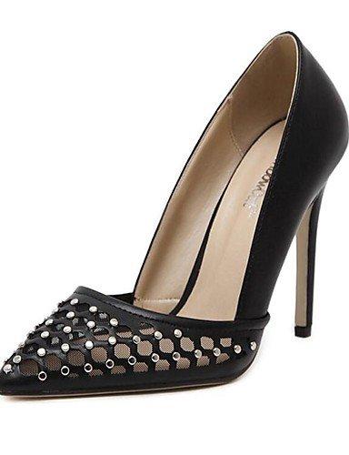 WSS 2016 Chaussures Femme-Mariage / Bureau & Travail / Habillé / Décontracté / Soirée & Evénement-Noir-Talon Aiguille-Talons-Talons-Synthétique / black-us6 / eu36 / uk4 / cn36