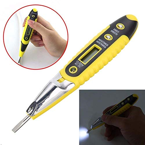 EisEyen Spannungsprüfer Elektrischer Test Stift Mayitr Spannungs Digital Detektor Prüfvorrichtungs Sensor 12~220V LCD mit Heller Funktionsanzeige