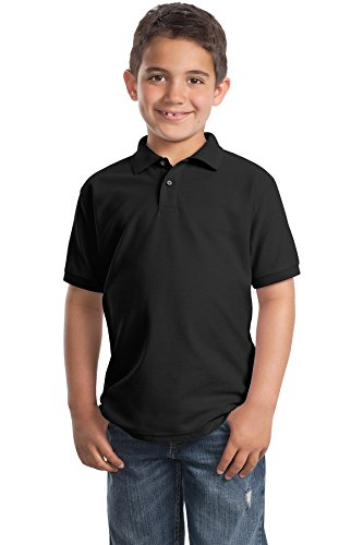 Port Authority® Youth Silk Touch™ Polo. Y500 Black