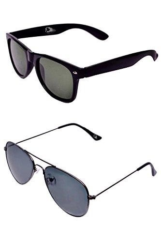 RST Wayfarer Sunglasses Combo Pack (Black & White) (157)(black)(157)