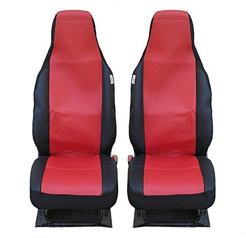 Schwarz Sitzbezug Baby Auto (2 VORDERE AUTO SITZBEZÜGE SCHONBEZÜGE SCHONBEZUG ROT-SCHWARZ EINTEILIG)