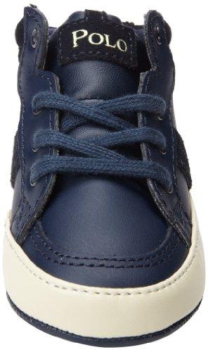 26752NAVY Ralph Lauren Sneakers Garçon Cuir Bleu Bleu