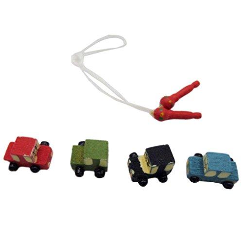 ur Holz Auto mini Car Mit Seilhüpfen für Maßstab 1:12 Puppenstuben Puppen ()