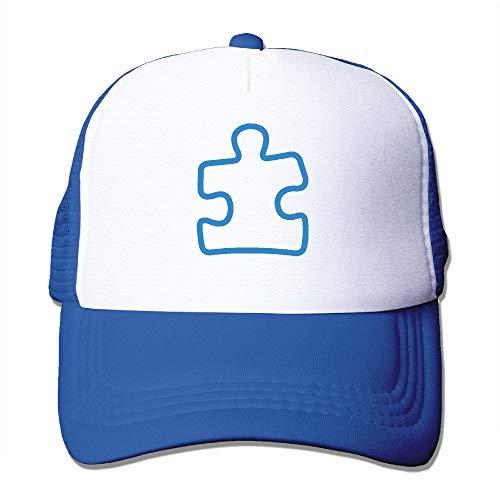 Sdltkhy Adult Autism Puzzle Awareness Trucker Hats,Unisex Mesh Caps,Snapback Baseball Cap Hat Multicolor2
