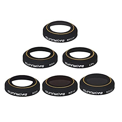 Sunnylife Multi-Coated Protective Filter UV ND4 ND8 ND16 ND32 CPL HD Gimbal Camera Lens Filters Set For DJI Mavic Pro Foldable RC Drone Quadcopter