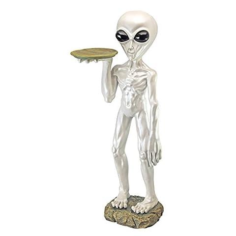 Design Toscano sculpture Roswell, le majordome extraterrestre