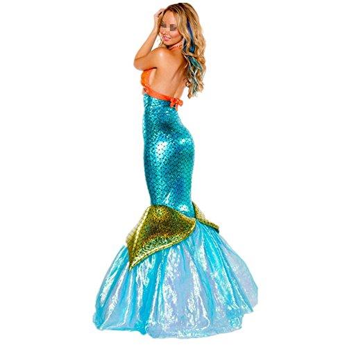 Imagen de disfraz de sirena princesa para mujer cosplay mermaid alternativa