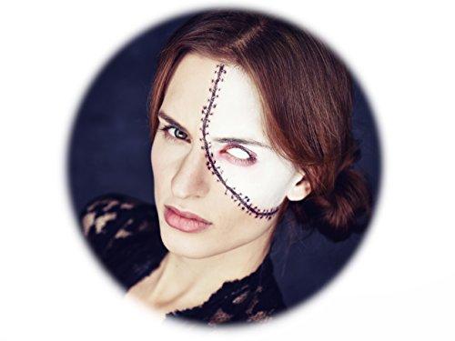 Narbe Kostüm - Tattoocrew® 6 x Halloween Tattoos Narbe