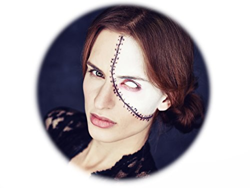 Tattoocrew® 6 x Halloween Tattoos Narbe Riss temporär zum Aufkleben