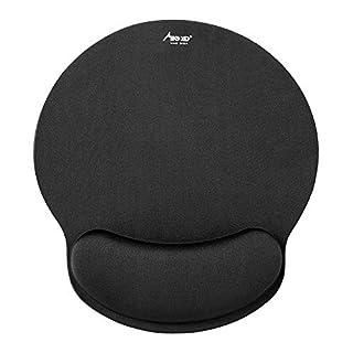 Mauspad, Madgiga ergonomische Handgelenkauflage Handballenauflage Mouse Pad, rutschfeste Unterlage, Anti-Sehnenscheidenprobleme für Computer, Laptop und Notebook, Schwarz
