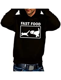 Coole-Fun-T-Shirts Sweatshirt FAST FOOD - Hoodie - Sweat-shirt - Homme