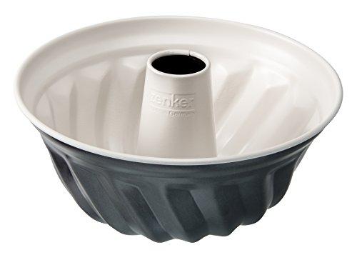 Zenker Gugelhupfform Ø 22 cm Creme Noir, Backform aus Stahlblech, Kuchenform mit keramisch verstärkter Antihaftbeschichtung (Farbe: Crème/Anthrazit), Menge: 1 Stück