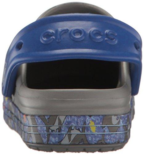 Crocs Bump It Graphic Clog K Smo/Blk, Zoccoli Unisex – Bambini Grigio (Smoke/Black)