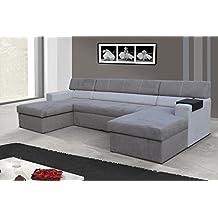 Conjunto de muebles para salón Markos Sofá esquinero Sofá de la esquina sofá con Función cama 01551